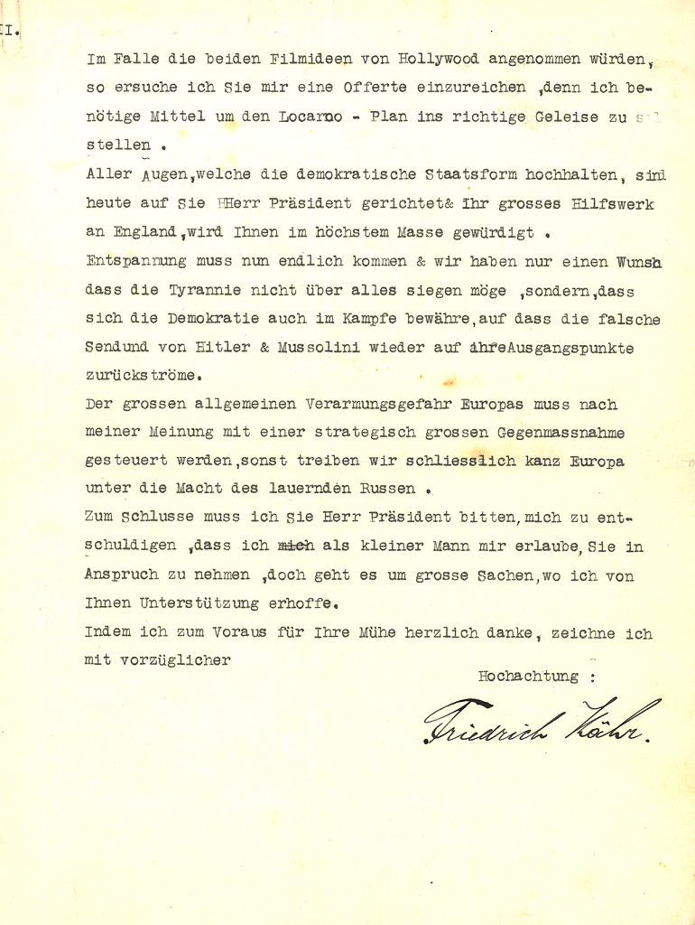 Letter to Roosevelt - page 3